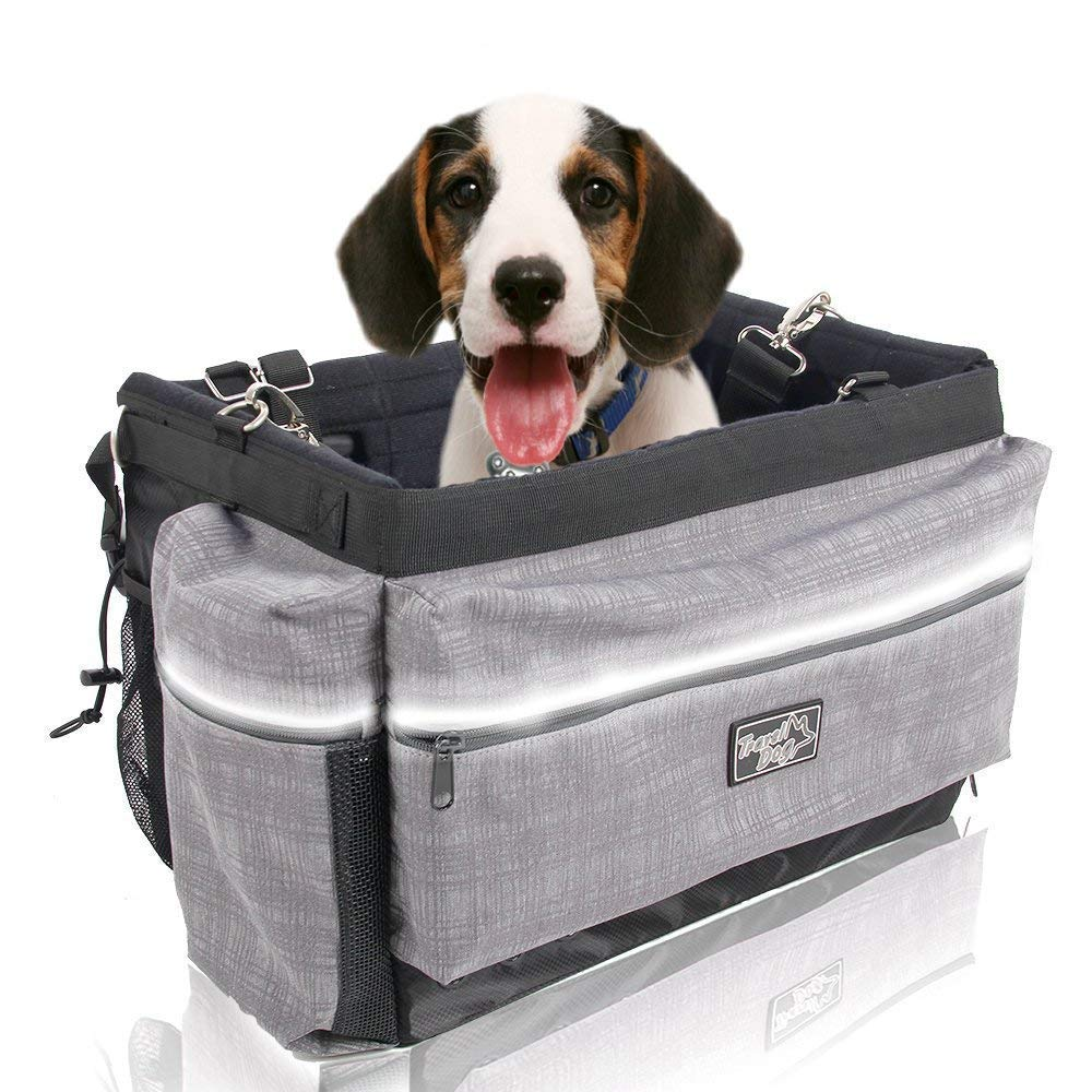 ALL FOR PAWS Delux 2 in 1 Bicycle Basket Carrier Bag with Reflective Stripe for Dogs