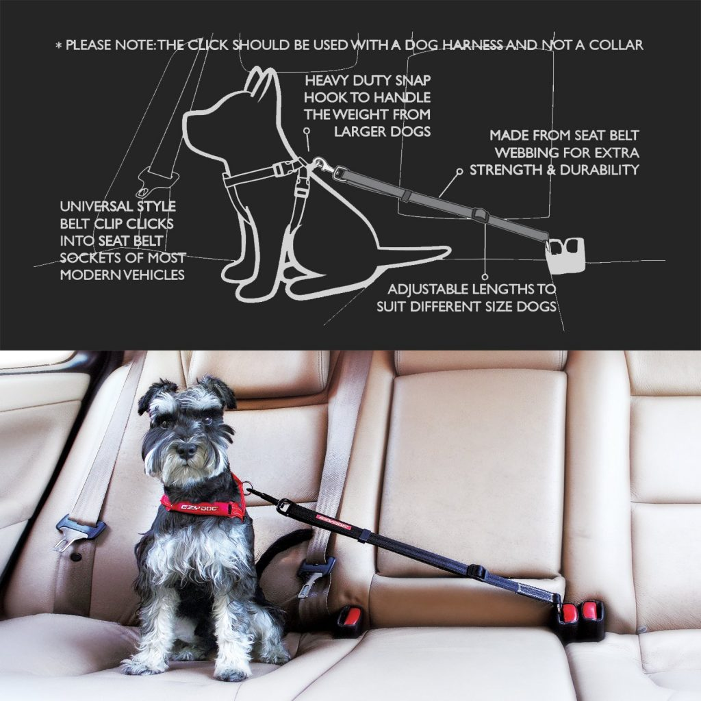 EzyDog CLICK - Best Dog Seat Belt Car Harness