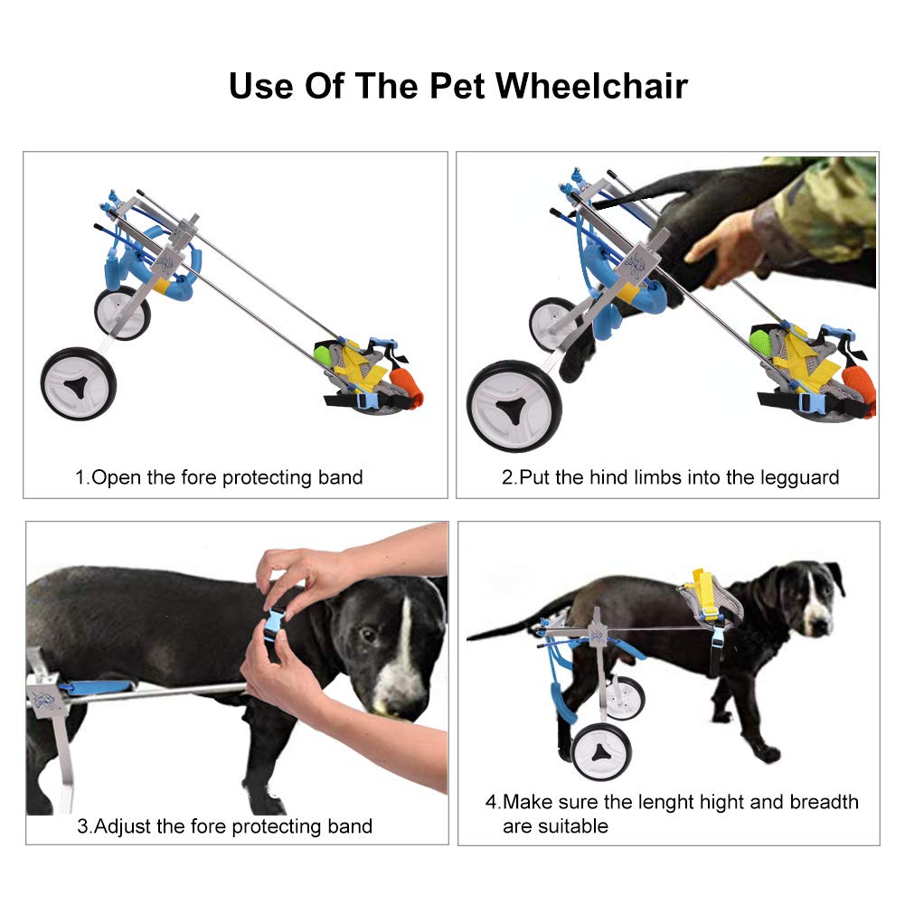 HiHydro 6 Types Cart Pet Wheelchair for Handicapped Hind Legs