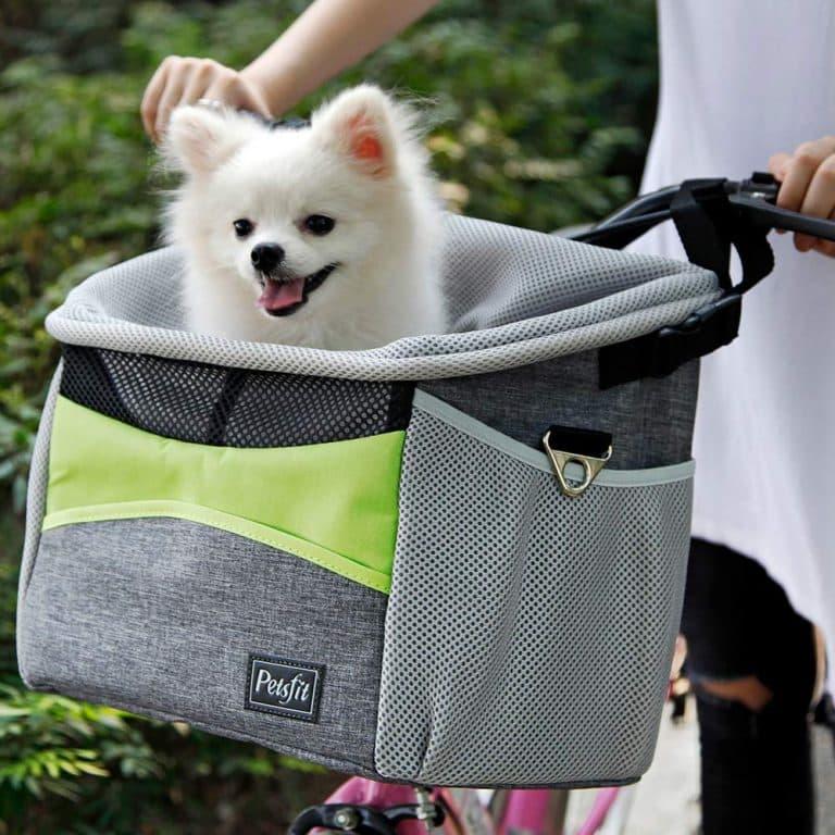 Petsfit Safety Dog Bike Basket for Small Pets