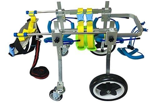 Quaz Four Wheels Adjustable Dog Wheelchair
