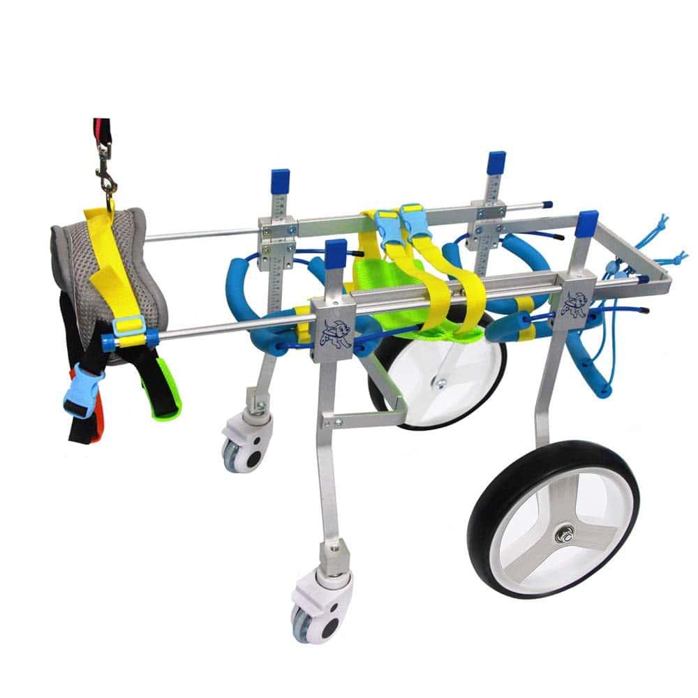 SURPCOS Adjustable Dog Pet Wheelchair, Front Hind Legs Rehabilitation