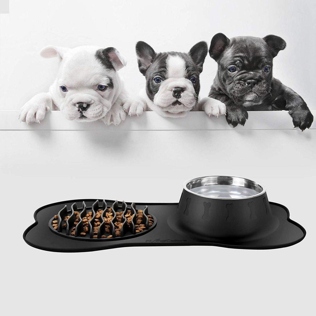 FLYINGCOLORS Pet Bowls Stainless Steel Dog Bowl Slow Feeder