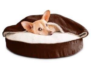 Furhaven Dog Bed Orthopedic Round Cuddle Nest Snuggery