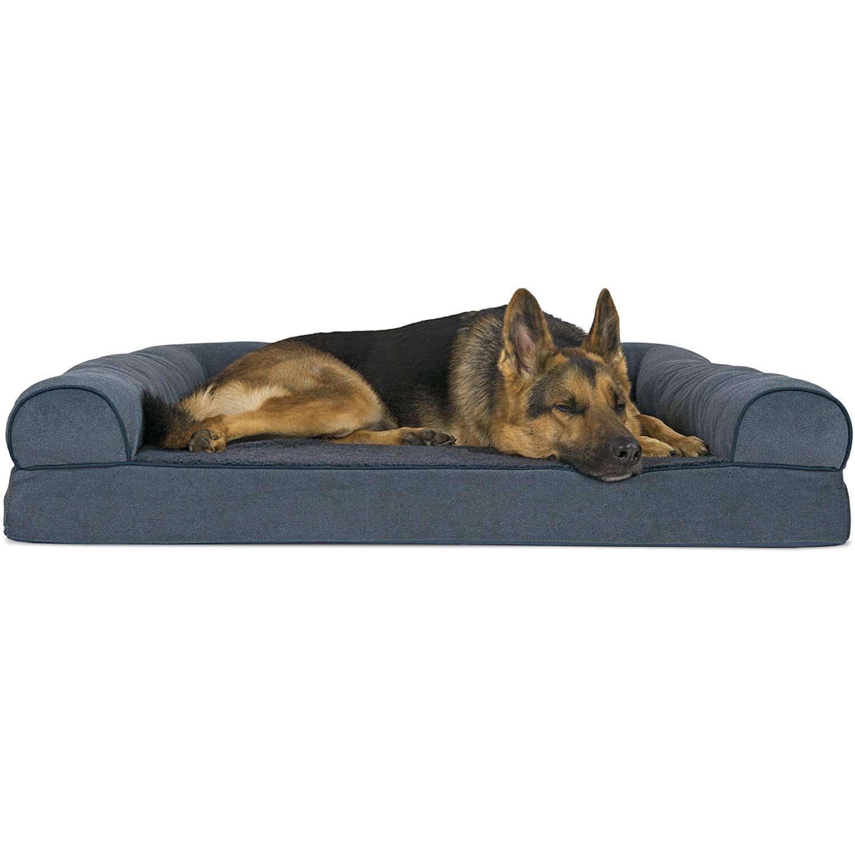 Furhaven Pet Dog Bed Orthopedic Sofa-Style
