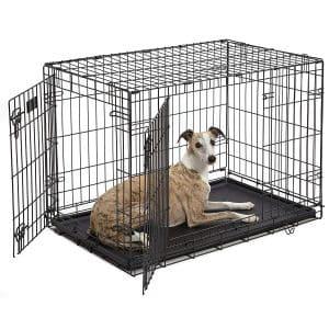 MidWest Homes for Pets Dog Crate Single Door Double Door Folding Metal