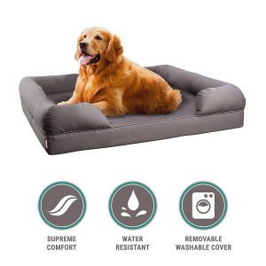 Petlo Orthopedic Pet Sofa Bed Dog Memory Foam Mattress Comfortable Couch for Pets with Removable Washable Cover