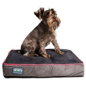 better world pets Orthopedic Dog Bed Pure Premium Shredded Memory Foam Ideal for Aging Dogs