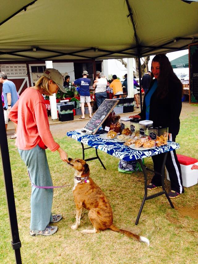 take your dog to the loacl farmers market - things to do with your dog