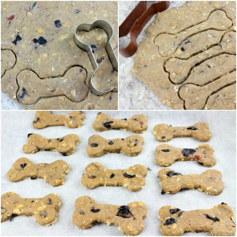 Homemade Blueberry and Banana Dog Biscuits