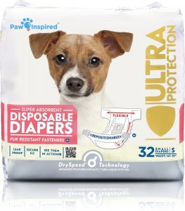 Paw Inspired Ultra Protection Disposable Female Dog Diapers
