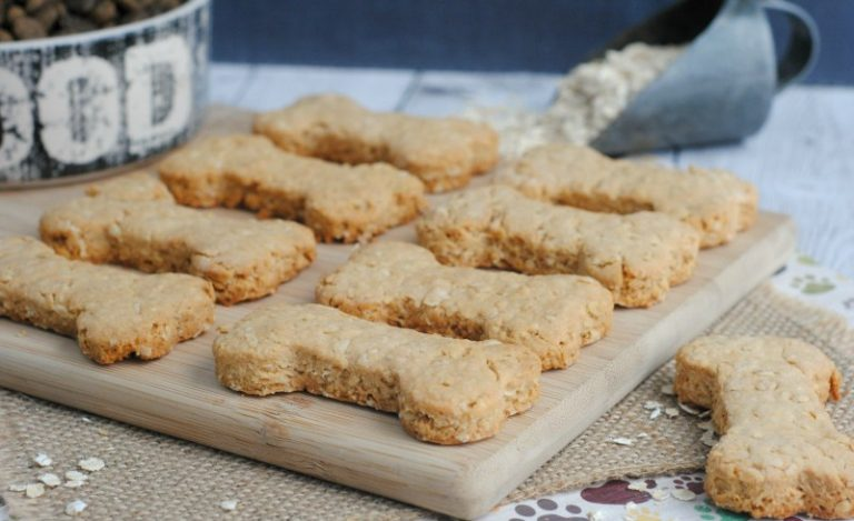 Peanut Butter and Applesauce Cookies for Dogs